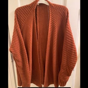 Burnt Orange Knit Cardigan - XS
